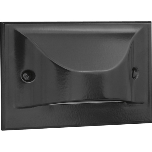 LED Step/Wall light. Horizontal Configuration, Decorative Faceplate - Black
