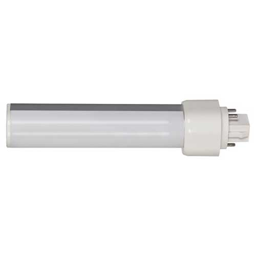 9W LED 4-PIN PL TYPE CFL DIRECT REPLACEMENT 3500K HORIZONTAL. CASE OF 10