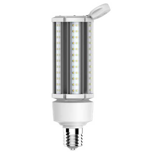 LED POST TOP CORN LAMP 63W MOGUL BASE W/ ADJUSTABLE MOTION SENSOR 3000K. 120-277V. CASE OF 6
