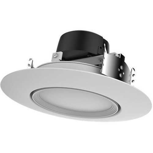 "13W LED 5-6"" RECESSED DOWNLIGHT GIMBAL RETROFIT 2700K DIMMABLE. CASE OF 8"
