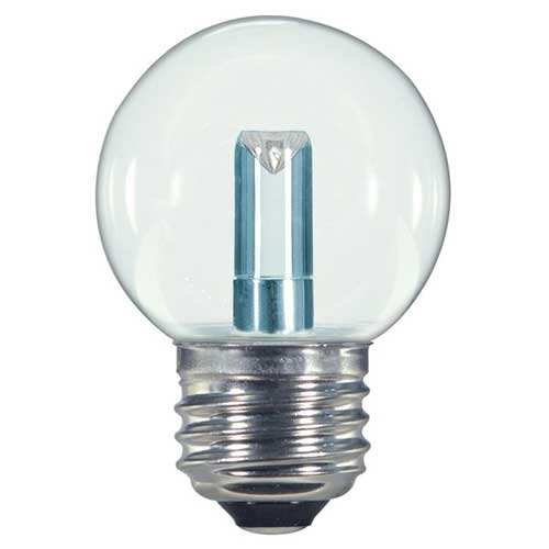 1.2W LED S11 SIGN/SPECIALTY LIGHTBULB 2700K  CLEAR. CASE OF 6