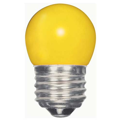 1.2W LED S11 SIGN/SPECIALTY LIGHTBULB  CERAMIC YELLOW COLOR. CASE OF 6