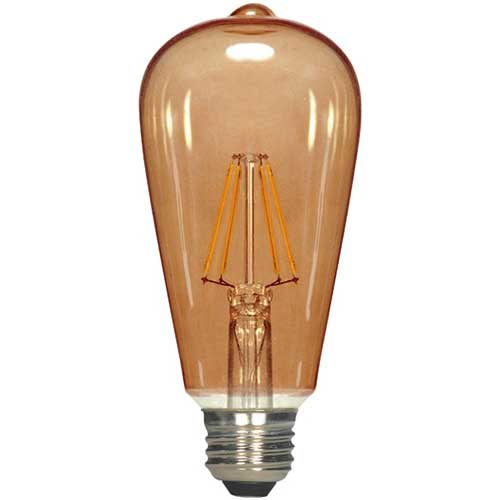 Newhouse Lighting 40w Equivalent Incandescent St19: SATCO S9578: $7.95 4.5ST19/AMB/LED/E26/23K/120V: 4.5W LED