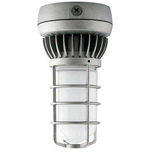 13W LED Vapor Proof Ceiling Mount Fixture with Frosted Glass and Guard - 60W Equivalent
