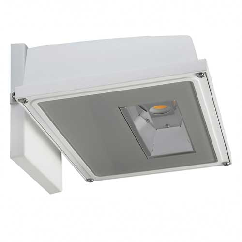 11W LED SMALL WALL PACK. WHITE FINISH. 3000K 120-277V
