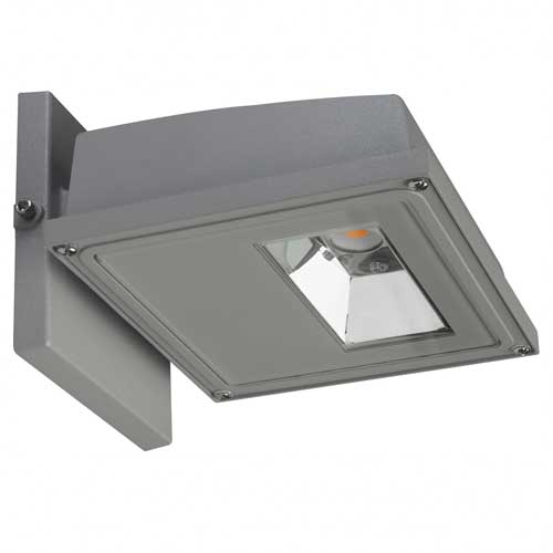 15W LED SMALL WALL PACK. GRAY FINISH. 3000K 120-277V