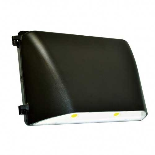 36W LED LARGE WALL PACK. BRONZE FINISH. 5000K 120-277V