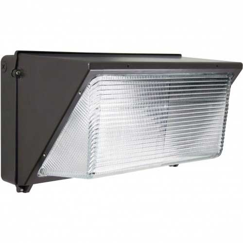 81W LED WALL PACK SECURITY FLOOD. BRONZE FINISH. 5000K 120-277V
