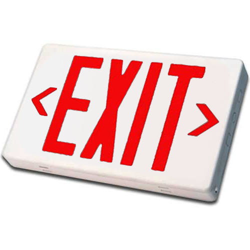 White LED Exit Sign (Red Letters)