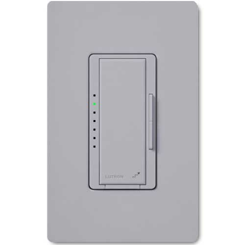 Maestro Wireless Dimmer for Electronic Low Voltage Lighting. Neutral Wire Req.d. Gray