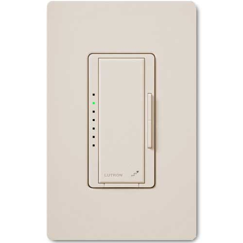 Maestro Wireless Dimmer for Electronic Low Voltage Lighting. Neutral Wire Req.d. Light Almond