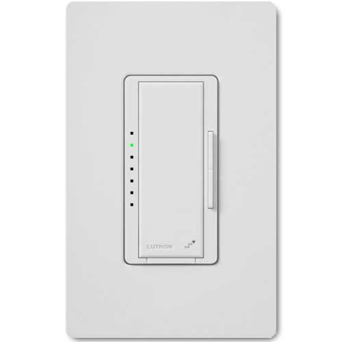 Maestro Wireless Dimmer for Electronic Low Voltage Lighting. Neutral Wire Req.d. White