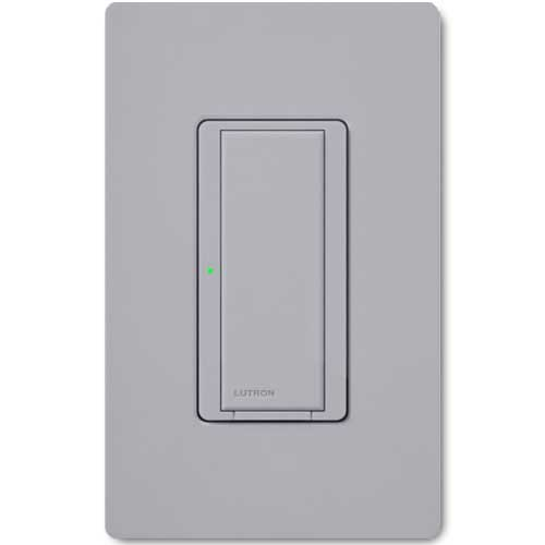Maestro Wall Switch. Wireless 8 Amp Gray. Dual Volt Use w/ Radio Powr Savr & Pico Controls