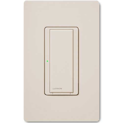 Maestro Wall Switch. Wireless 8 Amp Light Almond. Connects to Radio Powr Savr & Pico Controls