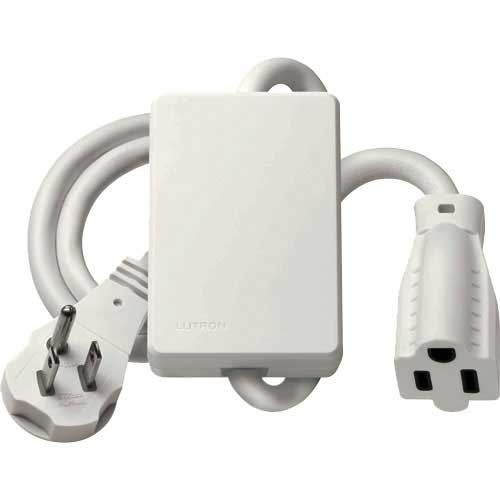 Maestro Wireless Plug-In Appliance Module. Grounded Single 3-Prong Outlet. White