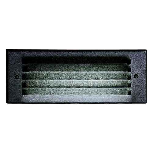 Step Light with Alumininum Louver Faceplate - 25W T6 Lamp - Black