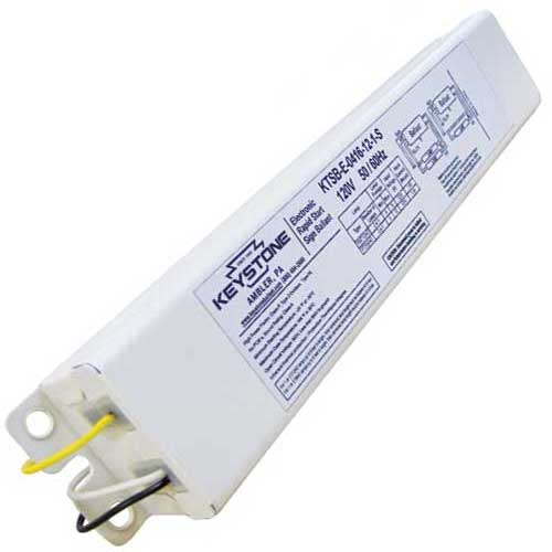 1-2 Lamp Electronic Sign Ballast - 2-8Ft - T8HO Or T12HO - Rapid Start Smart Wire 120V