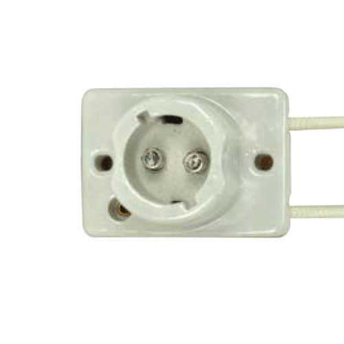 Porcelain Low Pressure Sodium Socket - Surface Mount With Single End Bayonet Base