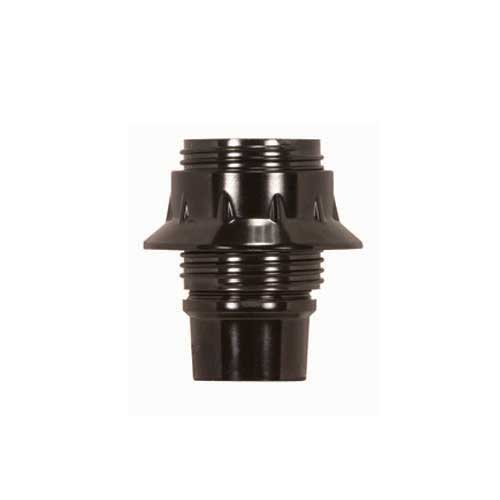 European Style Candelabra Base - 4 Pc, Full Uno Thread & Ring - 1/8 Ip - Brown