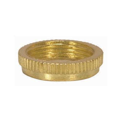 Finish Ring For Threaded Candelabra Sockets - Brass