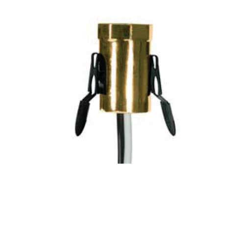 Candelabra Base Socket Gold Finish W/Spring Clips