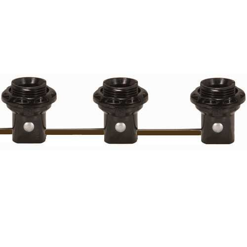 3 Light Threaded Candelabra Harness Set W/Shoulders & Rings - 6