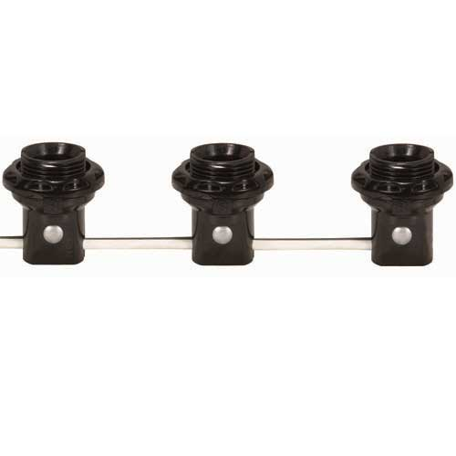 3 Light Threaded Candelabra Harness Set W/Shoulders & Rings - 9