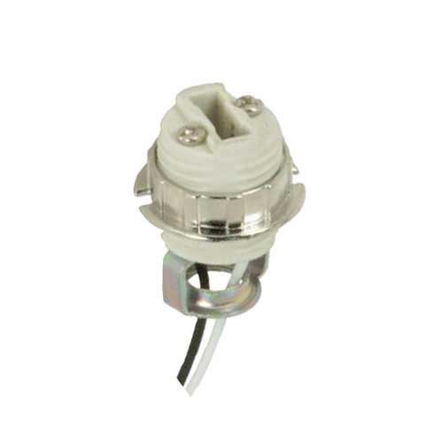 Halogen Socket G9 Threaded Porcelain W/Metal Ring - Double Leg 1/8 Ip Hickey Inside Ext - 21
