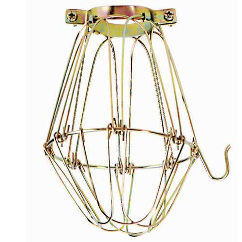 Light Bulb Cage Brass Finish - Height: 5 1/4