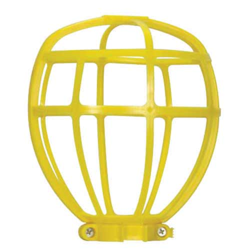 Light Bulb Cage Yellow Plastic Trouble Light - Suitable For Outdoor Use - Height: 6 1/2