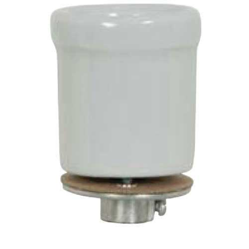 Keyless Porcelain Beaded Body Socket - 1/8 Ip Flange