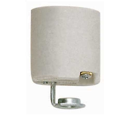 Keyless Porcelain Medium Base Socket - 1/4 Ip Hickey - Aluminum Sleeve