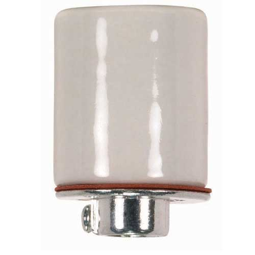 Keyless Porcelain Medium Base Socket - 1/4 Ip Metal Cap