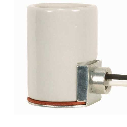 Keyless Porcelain Socket With 1/8 Ip Side Mount Bushing - 9