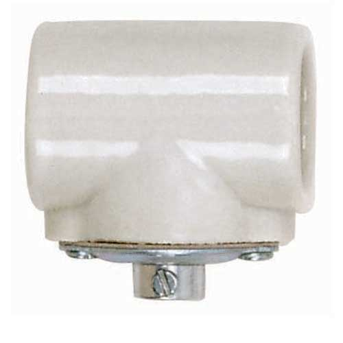 Twin Porcelain Socket With 1/8 Ip Flange Bushing Cap