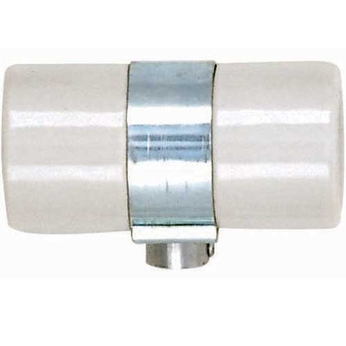 Twin Porcelain Socket With Single 1/8 Ip Bushing Strap