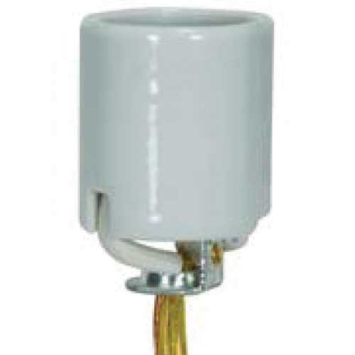 Keyless Porcelain Medium Base Socket With 3/8