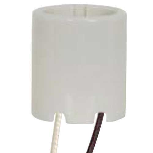 Keyless Porcelain Socket W/ Paper Liner - 4Kv Pulse Rated - 2 Bushings - 9