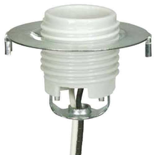 Keyless Threaded Porcelain Medium Base Socket With 1/2