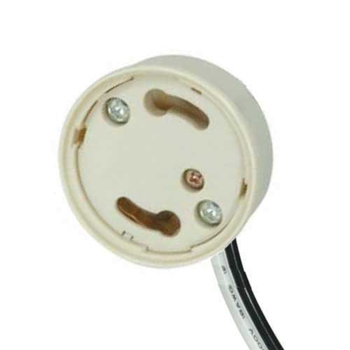 Gu24 Electronic Socket Cap - Safety Design Phenolic U-Channel 1/8Ip Hickey W/ Leads