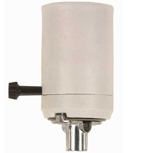 Porcelain Mogul Socket - With 3-Way Turn Knob - 1/4