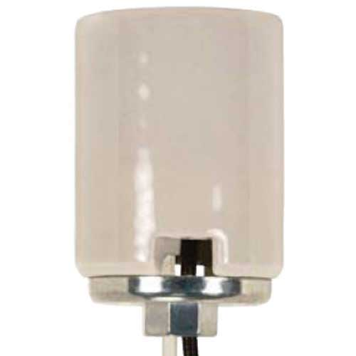 Porcelain Mogul Socket - 4Kv Pulse Rated - 1/4 Ip Metal Cap - 11