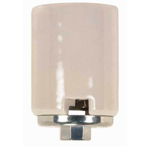 Porcelain Mogul Socket - 4Kv Pulse Rated - 1/4 Ip Metal Cap - 2 Wireways