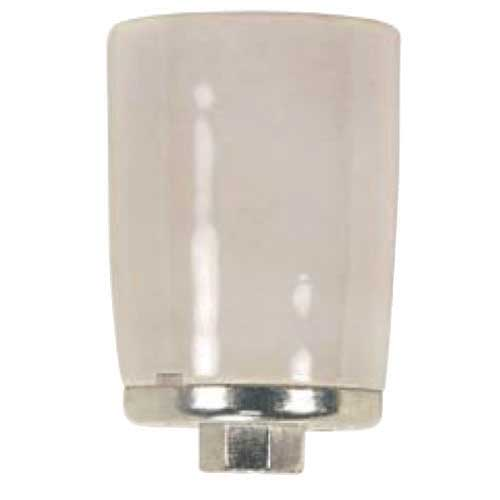 Porcelain Mogul Socket - 4Kv Pulse Rated - 1/4 Ip Metal Cap - 3 Terminals