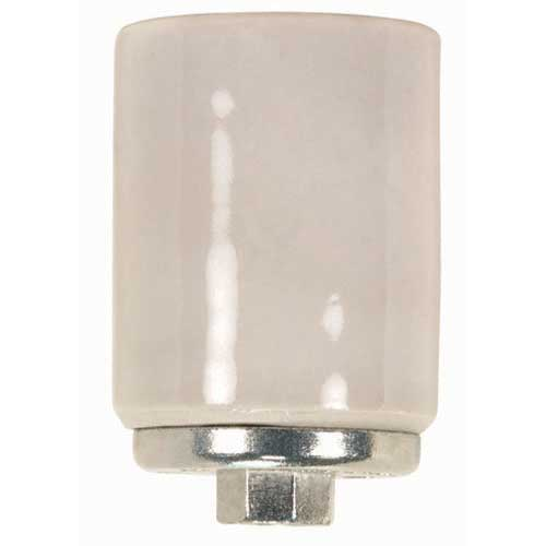 Porcelain Mogul Socket - 4Kv Pulse Rated - 1/4 Ip Metal Cap