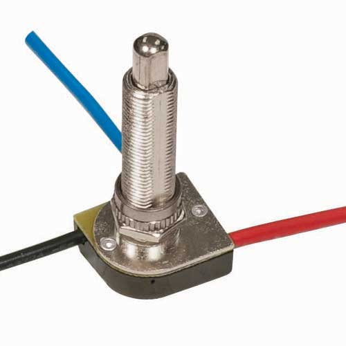 Push Switch, 3Way - Nickel 1 1/2