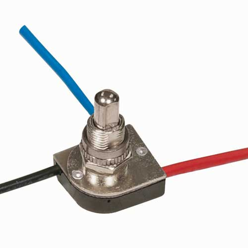 Push Switch, 3Way - Nickel 3/8