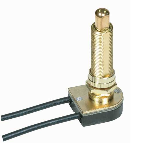 Push Switch, On/Off Brass 1 1/2