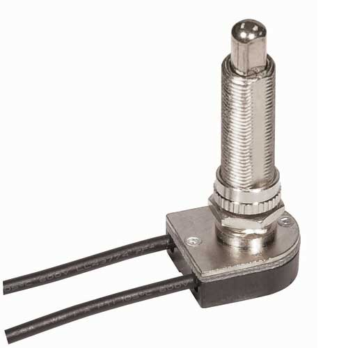 Push Switch, On/Off Nickel 1 1/2