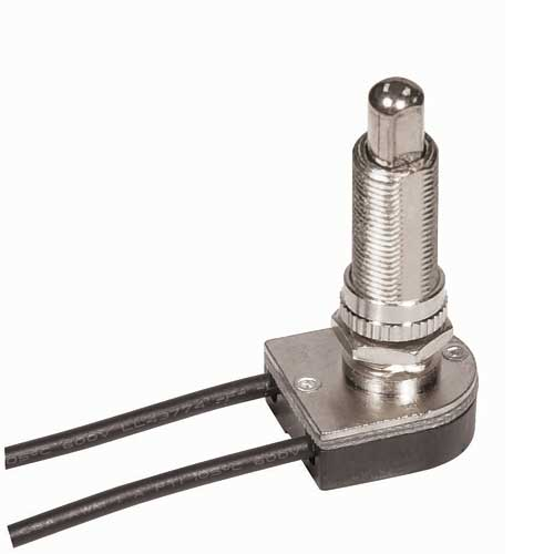 Push Switch, On/Off Nickel 1 1/8